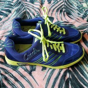 COACH DARLA Blue Neon Sneakers Size 8